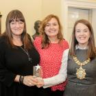 Windsor Women's Centre, Promoting Health Equity Winner (Eleanor Jordan and Martina Magee, both Windsor Women's Centre), with Lord Mayor Cllr Nuala McAllister