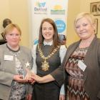 Hosford - East Belfast Mission Engaging for Change Joint Winner (L-R: Mary Campbell, Arlene Megaw) with Lord Mayor Cllr Nuala McAllister