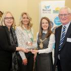 Beat the Street Northern Ireland, Healthy Living Joint Winner (L-R: Jayne Murray, British Heart Foundation; Dianne Whyte, Intelligent Health and Brendan Heaney, Diabetes UK) with Lord Mayor Cllr Nuala McAllister