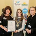 Conservation volunteers, Healthy Living, Highly Commended (Helen Tomb and Mary Hamilton) with Lord Mayor Cllr Nuala McAllister