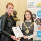 New Lodge Duncairn Community Health Partnership (Trish Brady, New Lodge Duncairn Community Health Partnership with Lord Mayor Cllr Nuala McAllister