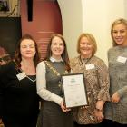 Nexus NI, Engaging for Change, Highly commended (Karen Taggart, Nexus NI; Donna McIlroy, Nexus NI and Lucy Monaghan, Nexus NI) with Lord Mayor Cllr Nuala McAllister