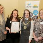 Nexus NI, Engaging for Change, Highly commended (Lucy Monaghan, Nexus NI; Karen Taggart, Nexus NI and Donna McIlroy, Nexus NI) with Lord Mayor Cllr Nuala McAllister