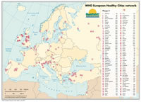 WHO European Healthy Cities Map